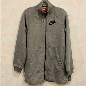 NWT Nike Zip Up Sweater with Side Slits - Sz S